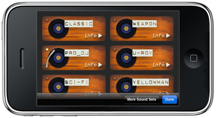 dub siren reggae iPhone DJ app Landscape Radio mode