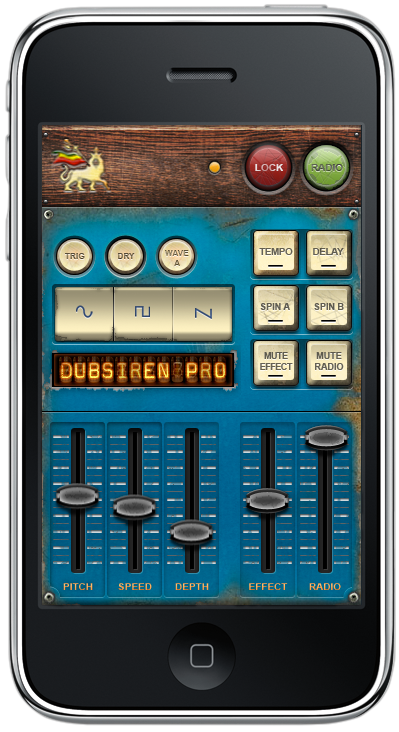 dub siren reggae iPhone DJ app vertical mode