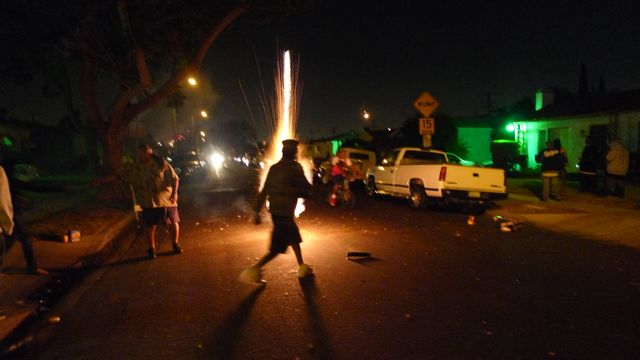 volcano fireworks!